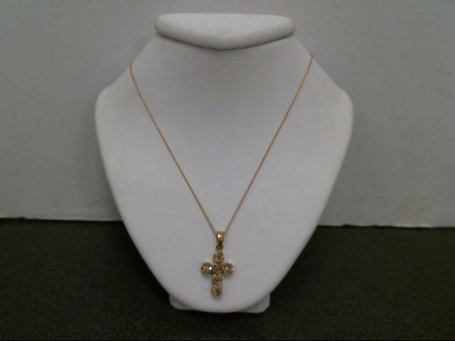 "18"" Diamond Necklace 42 Diamonds .90 Carat T.W. 14K Yellow Gold 2.1g"