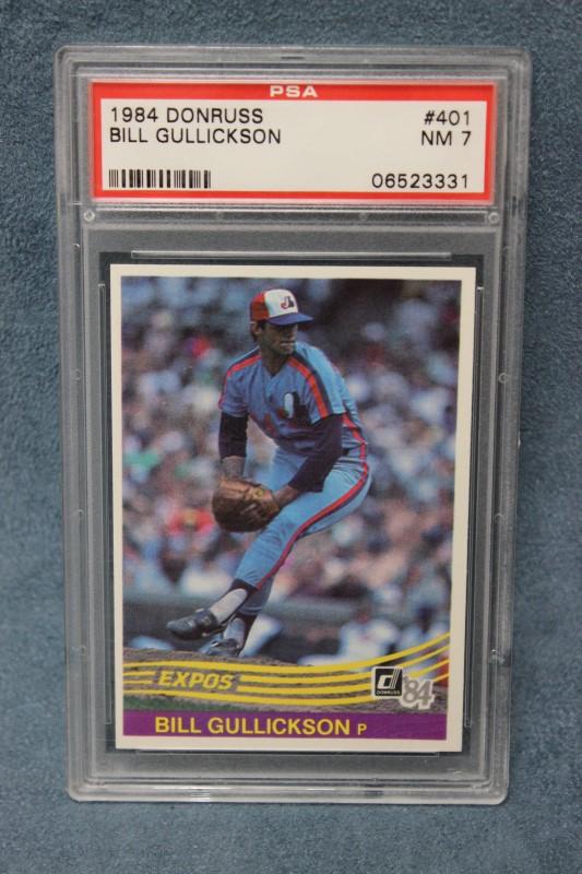Bill Gullickson 1984 Donruss Montreal Expos #401 PSA NM 7