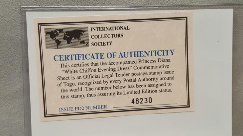 International Collectors Society - Princess Diana Stamps