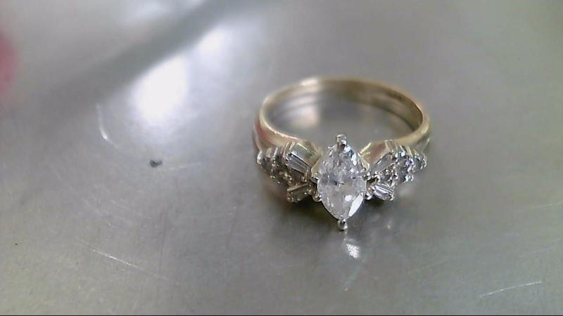Lady's Diamond Wedding Set 13 Diamonds .88 Carat T.W. 14K Yellow Gold 5g