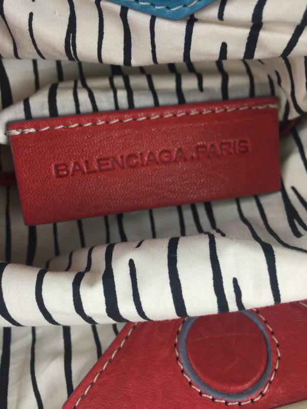 BALENCIAGA SUEDE WOVEN DRAWSTRING SHOULDER BAG