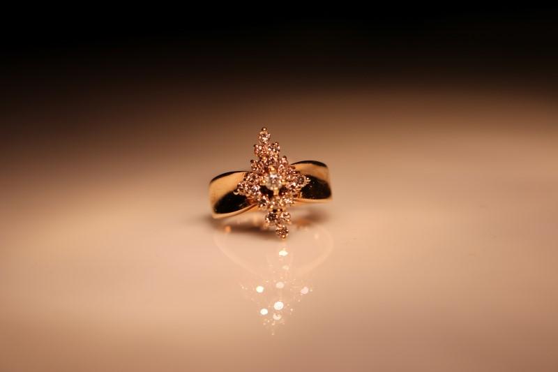 Lady's Diamond Cluster Ring 19 Diamonds .21 Carat T.W. 14K Yellow Gold 3.42g