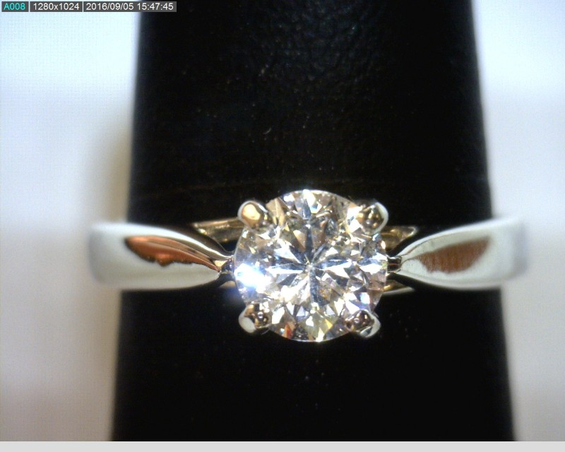 Lady's Platinum-Diamond Solitaire 2 Diamonds 1.03 Carat T.W. 950 Platinum