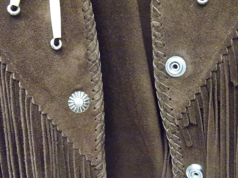 DIAMOND LEATHERS BROWN BEADED SUEDE LEATHER JACKET SIZE 4