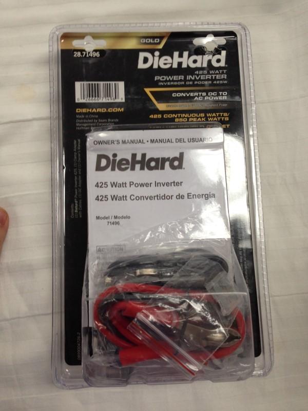 DIE HARD 425 WATT DC TO AC POWER INVERTER 28.71496