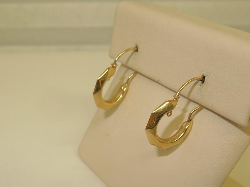 Gold Earrings 10K Yellow Gold 0.8g