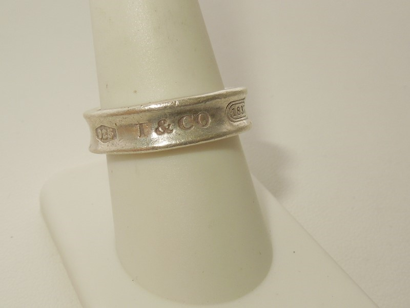 Tiffany & Co. Lady's Silver Ring 925 Silver 8.2g