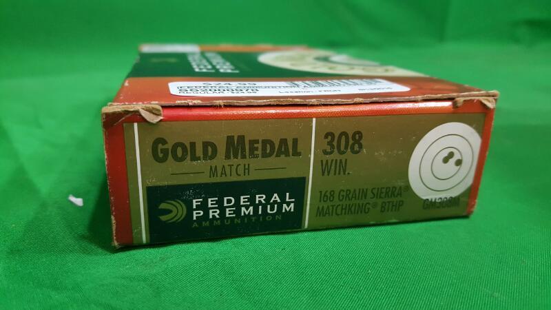 Federal Premium® Gold Medal Sierra MatchKing .308 Winchester 168-Grain Centerfir