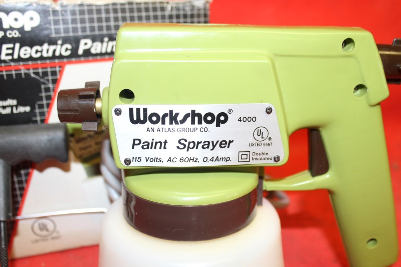 WORKSHOP AIRLESS ELECTRIC PAINT SPRAYER 4000