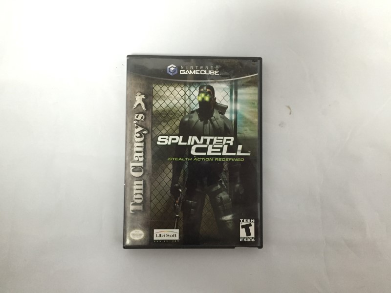NINTENDO GAME CUBE SPLINTER CELL STEALTH ACTION REDEFINED