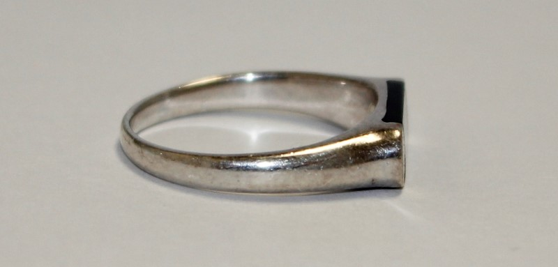 Onyx Silver Stone Ring 925 Silver 3.28g
