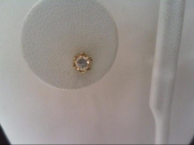 Gold-Diamond Earrings 2 Diamonds .20 Carat T.W. 14K Yellow Gold 1.1g