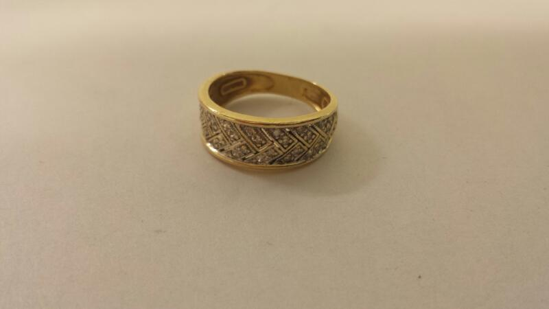 Lds 14k-Y/G Diamond Fashion Ring 36 Diamonds
