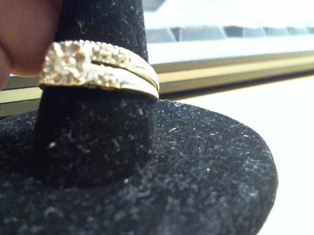 Lady's Diamond Wedding Set 8 Diamonds .15 Carat T.W. 14K White Gold 3.1g