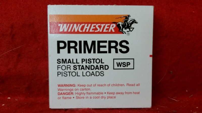 Winchester Small Pistol Primers for Standard Loads - QTY 100