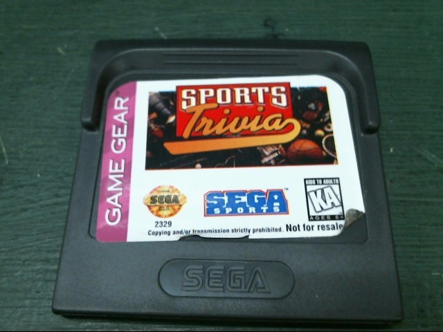 SEGA Sega Game SPORTS TRIVIA