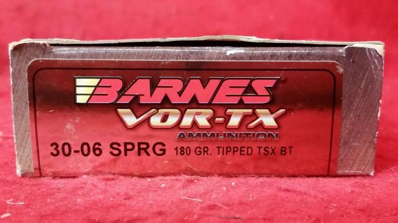 Barnes 30-06 SPRG 180gr Tipped TSX BT - VOR-TX Ammo