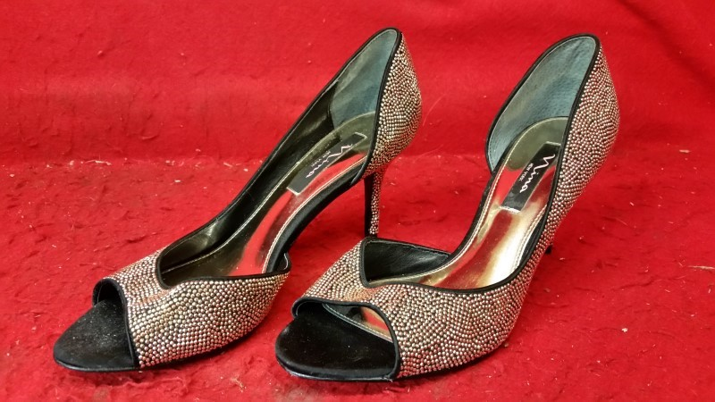 Nina New York Gold Dazzly High Heels 10M