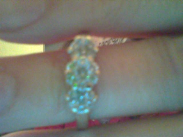 Lady's Diamond Fashion Ring 19 Diamonds .38 Carat T.W. 14K White Gold 4g