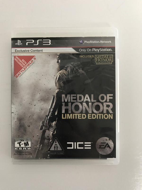 SONY PLAYSTATION 3 MEDAL OF HONOR LIMITED EDITION