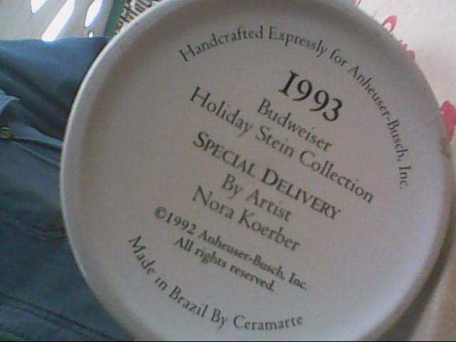 1993 BUDWEISER HOLIDAY MUG