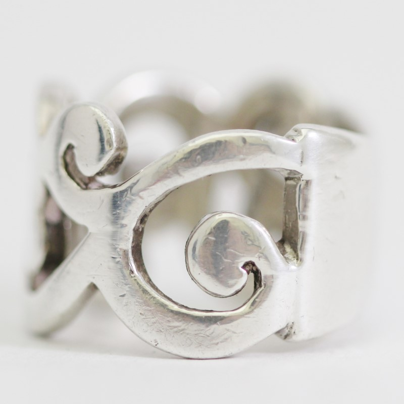 Women's Sterling Silver Filigree Cut Out Ring Size 6.5