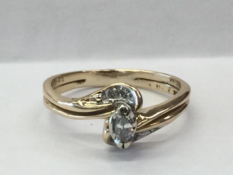 DIAMOND Lady's Diamond Wedding Set 1MRQ_4RD_DIA_APPX.15CTTW