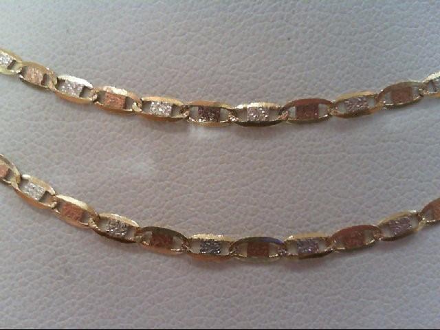 """21"""" Gold Fashion Chain 14K Tri-color Gold 3.6g"""