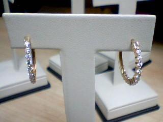 Gold-Diamond Earrings 24 Diamonds .72 Carat T.W. 14K Yellow Gold 4.2g