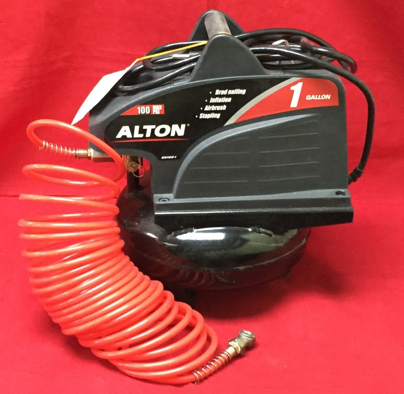 ALTON 1/3hp, 1 gal oil-free, single phase, direct-drive,  Air Compressor AT01101