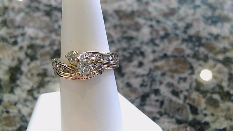 Lady's Diamond Wedding Set 13 Diamonds 1.25 Carat T.W. 14K Yellow Gold 8.1g
