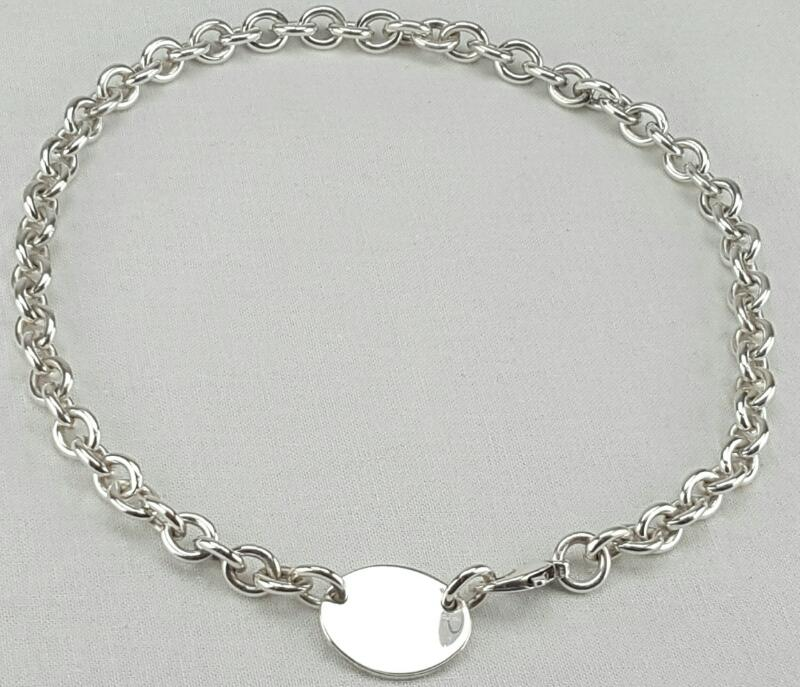"Tiffany & Co. 15.5"" ""Please Return To Tiffany"" Tag Necklace 925 Silver 52g"