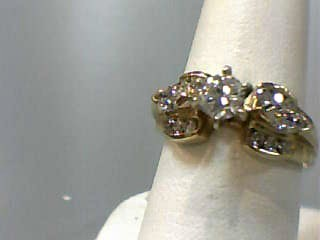 Lady's Diamond Engagement Ring 15 Diamonds .90 Carat T.W. 14K Yellow Gold