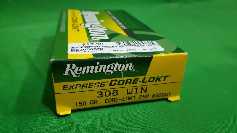 Remington Core-Lokt® .308 Win. 150-Grain Centerfire Rifle Ammunition