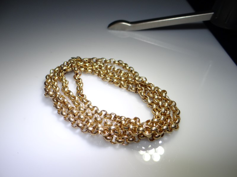 """40"""" Gold Link Chain 10K Yellow Gold 45.8g"""