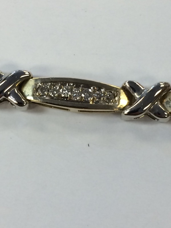 Gold-Diamond Bracelet 62 Diamonds 1.86 Carat T.W. 14K Yellow Gold 9.6g