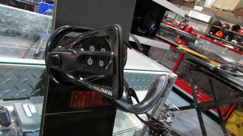 ROME 2012 163CM LOFI ROCKER SNOWBOARD WITH PACT SALOMAN BINDINGS