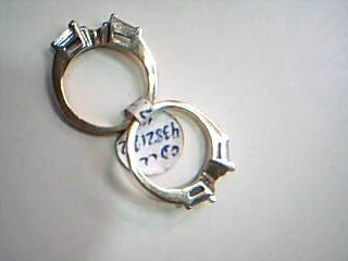 Lady's Gold-Diamond Ring Guard 4 Diamonds .48 Carat T.W. 14K Yellow Gold 4.1g