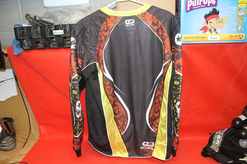 PLANET ECLIPSE PAINTBALL PADDED TOURNAMENT JERSEY MENS SIZE m