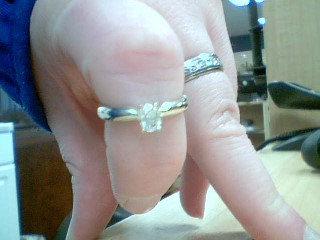 Lady's Diamond Solitaire Ring .30 CT. 14K White Gold 3g