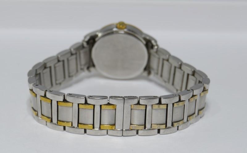 Bulova Two Tone Diamond Bezel Mother Of Pearl St. Steel Watch 98R107