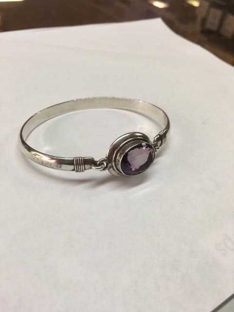 Amethyst Silver-Stone Bracelet 925 Silver 28g
