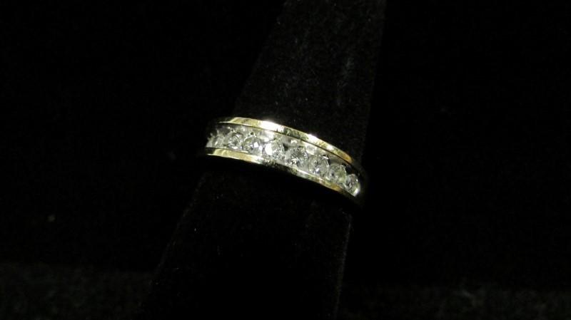 Lady's Gold-Diamond Anniversary Ring 11 Diamonds 0.55 Carat T.W. 14K Yellow Gold