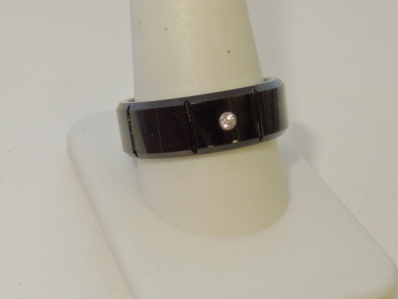 Gent's Ring Black Tungsten 16.7g
