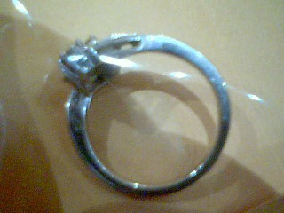 Lady's Diamond Cluster Ring 10 Diamonds .50 Carat T.W. 14K White Gold 2.5g