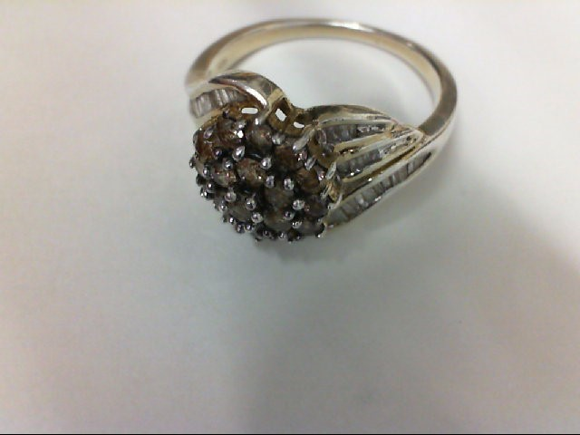 Lady's Silver-Diamond Ring 32 Diamonds .32 Carat T.W. 925 Silver 3.9g