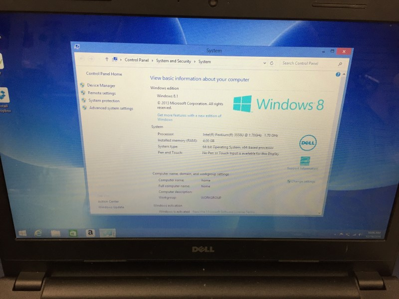 DELL PC Laptop/Netbook INSPIRON 15 P40F