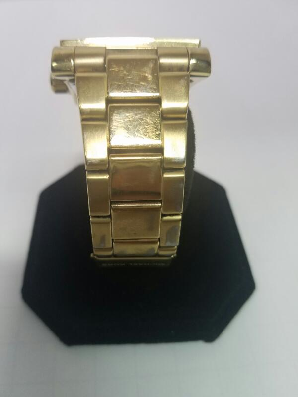 MK MK GOLD/SILVER WATCH PLATED   5673 YG MNS WATCH,94-0.01 RND CZ