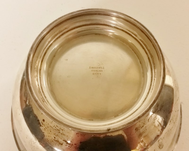 Vintage Rogers Solid Sterling Silver 0311 Paul Revere Style Bowl