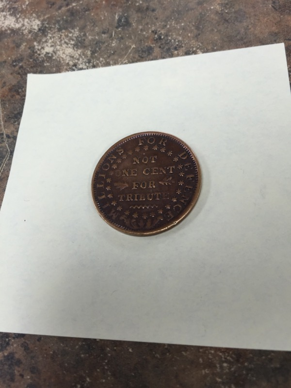UNITED STATES Coin HARD TIME ROKEN 1841